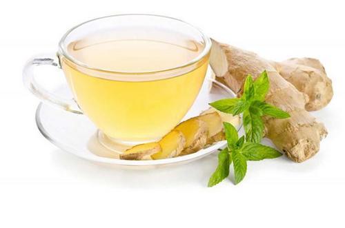 uống trà gừng giảm cân